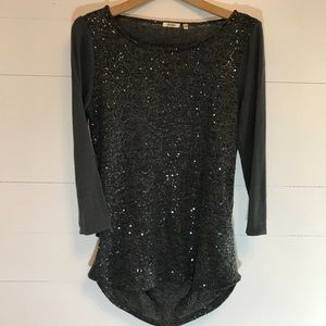 dylan by true grit sequin baseball style tee